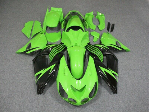 N Green Black Injection Molding Fairing Fit for 2006-2011 ZX14R ZZR1400 Kit e04A