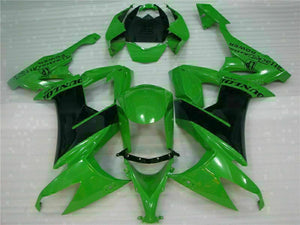 MSA Fit for Kawasaki 2008-2010 ZX10R ZX-10R ABS Black White Injection Fairing t015-T