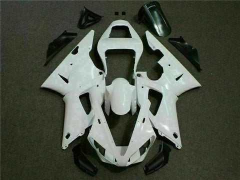 MSB Injection Mold Kit White Plastic Fairing Fit for Yamaha 2000-2001 YZF R1 f0B