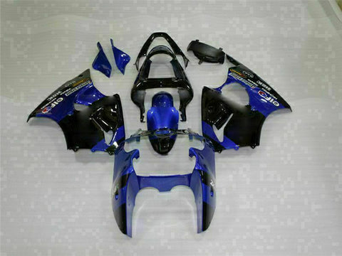 MS Fit for Kawasaki 2000-2002 ZX6R Plastic Blue Kit Injection Fairing ABS t008-th