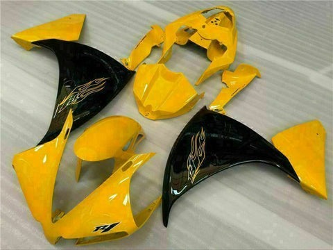 MSB Injection Mold Yellow Fairing Kit Fit For Yamaha YZF R1 2012-2014 2013 g001
