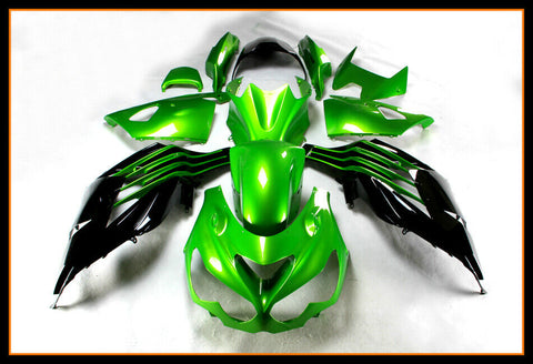 NT Black Green ABS Fairing Kit Fit for Injection ZX14R ZZR1400 2012-2017 e002A