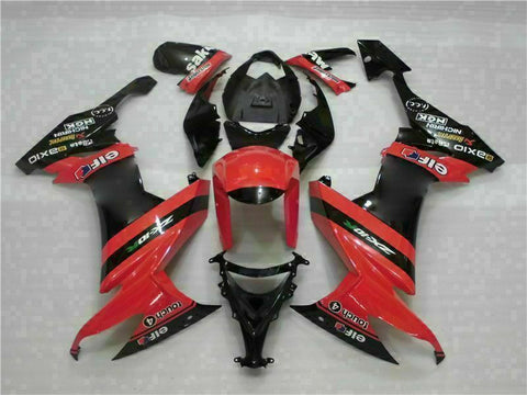 MSA Fit for Kawasaki 2008-2010 ZX10R ZX-10R ABS Red Black Injection Fairing t010-T
