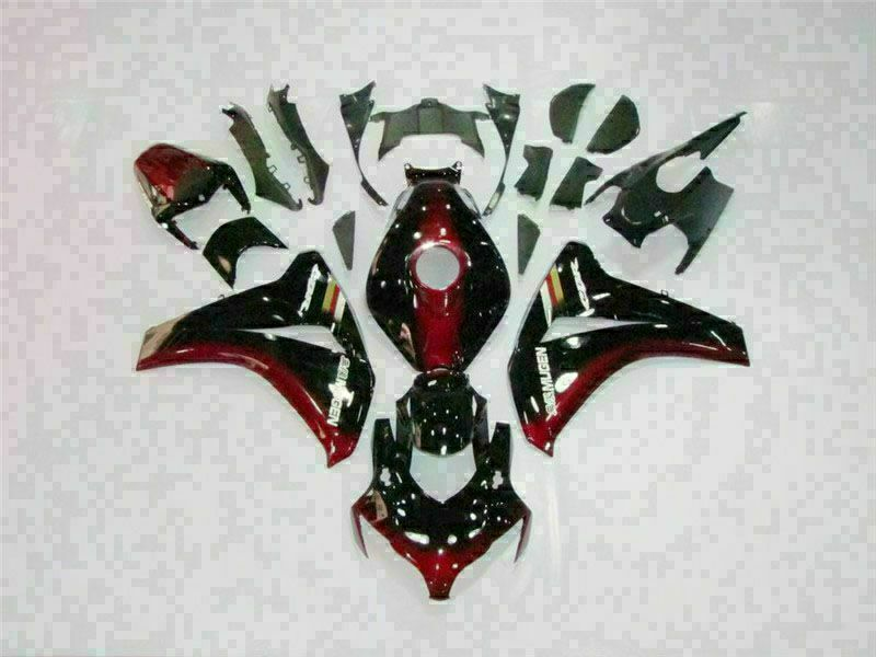 MS Injection Black Red Fairing ABS Set Fit for Honda 2008-2011 CBR1000RR u037