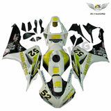MS Injection New Yellow White Fairing Fit for Honda 2006-2007 CBR1000RR u0115