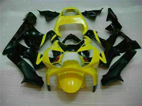 MS Injection Fairing  Black Yellow Kit Fit for ABS Honda CBR929RR 2000-2001 u06