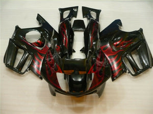 MSA Bodywork Red Flame Injection Fairing Fit for Honda 1997-1998 CBR600F3 u027