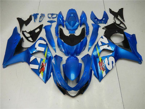 MS Injection Kit Blue Fairing ABS Set Fit for Suzuki 2009-2016 GSXR 1000 N001