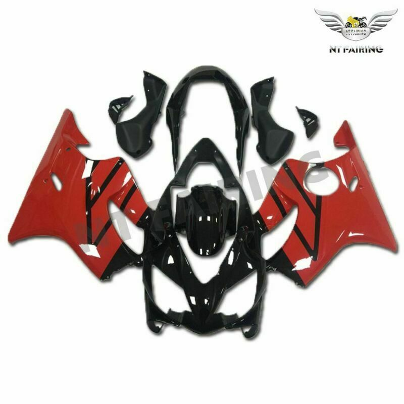 MS Injection Mold Red Black Fairing Kit Fit for Honda 2004-2007 CBR600 F4I u003
