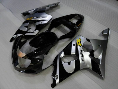 MS Injection Mold Silver Black Fairing Fit for Suzuki 2000-2002 GSXR 1000 n001