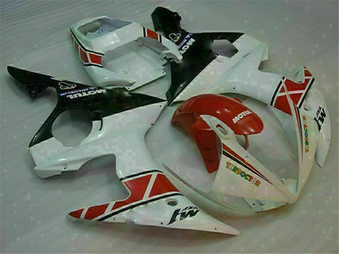 MS Injection White Red Fairing Fit for Yamaha YZF 2003-2005 R6 & 06-09 R6S g013