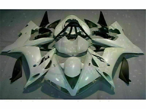 MSB Injection White Plastic Fairing Fit for Yamaha 2004-2006 YZF R1 ABS g007-01