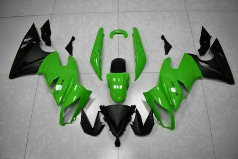 MSA Fit for Kawasaki Ninja 650R 2009-2011 ER6F Plastic Green Black Fairing t003