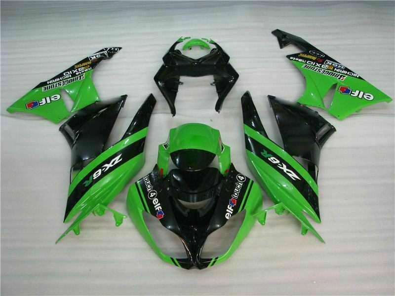 MSA Injection Fairing Fit for Kawasaki 2009-2012 ZX6R Plastic With Seat Cowls l029-T