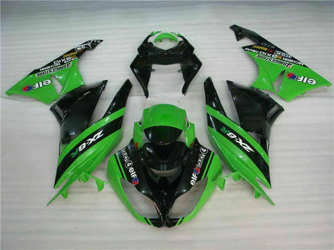 MSA Injection Fairing Fit for Kawasaki 2009-2012 ZX6R ABS Plastic l029-T Available in TX