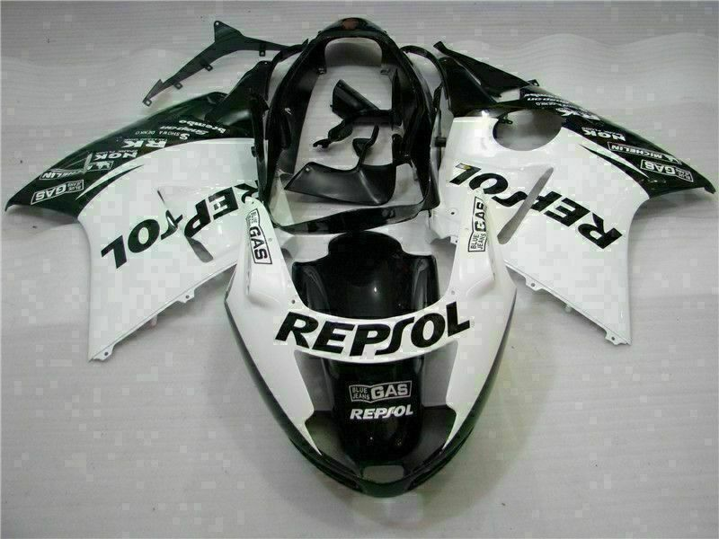 MS Injection White Black Fairing ABS Kit Fit for Honda 1996-2007 CBR1100XX u003