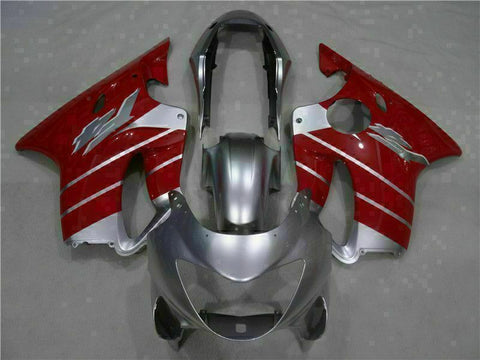 MS Red Silver Fairing Injection Fit for Honda 1999-2000 CBR600 F4 ABS Plastic u030