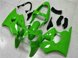 MSA Fit for Kawasaki 2000-2002 ZX6R Plastic Glossy Green Injection Fairing t018