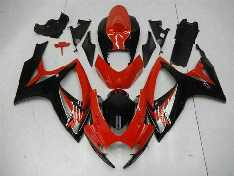 MSB Injection Mold Red Fairing Fit for Suzuki 2006 2007 GSXR 600 750 n003