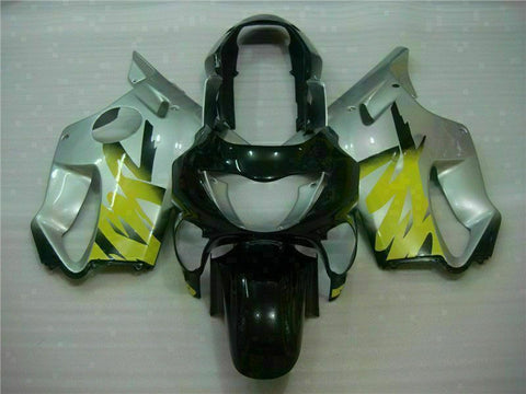 MS Yellow Silvery Fairing Injection Fit for Honda 1999-2000 CBR600 F4 Plastic u013