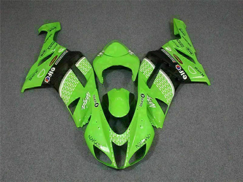 MSA Fit for Kawasaki 2007 2008 ZX6R Plastics With Seat Cowl Injection Fairing t007-T