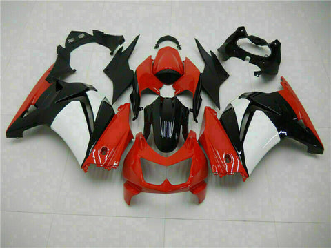 MSA Fit for Kawasaki 2008-12 EX250 250R ABS Red Black Injection Fairing Kit t012