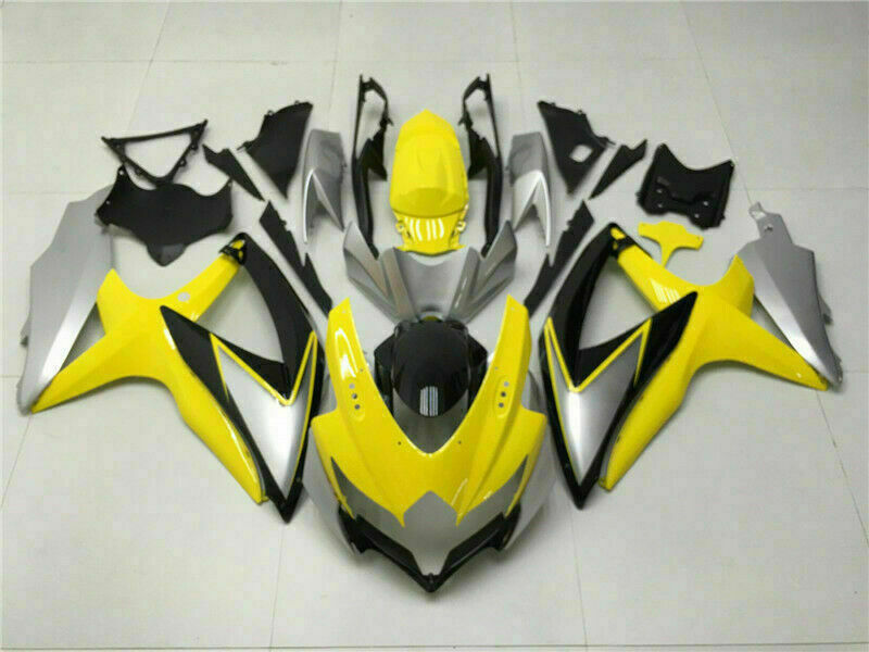 MSB Injection Mold Yellow Fairing Set Fit for Suzuki 2008-2010 GSXR 600 750 n017
