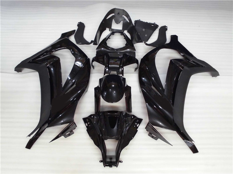 NT Aftermarket Injection ABS Plastic Fairing Fit for ZX10R 2011-2015 Glossy Matte Black N002 Available in CA