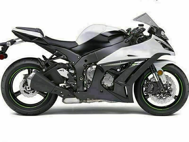 NT Aftermarket Injection ABS Plastic Fairing Fit for ZX10R 2011-2015 Black White N005 Available in KY
