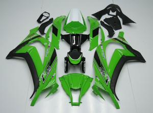 NT Aftermarket Injection ABS Plastic Fairing Fit for ZX10R 2011-2015 Green Black N035 Available in IL