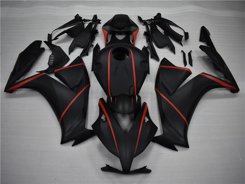 NT Aftermarket Injection ABS Plastic Fairing Fit for CBR1000RR 2012-2016 Matte Black Red N001 Available in TX
