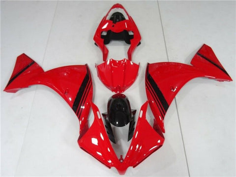 NT Aftermarket Injection ABS Plastic Fairing Fit for YZF R1 2012-2014 Red Black N022