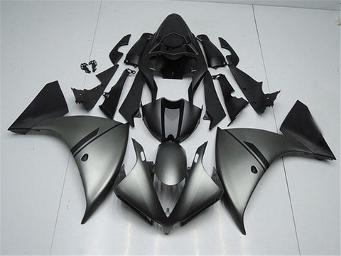 NT Aftermarket Injection ABS Plastic Fairing Fit for YZF R1 2012-2014 Matte Gray Black N003 Available in IL