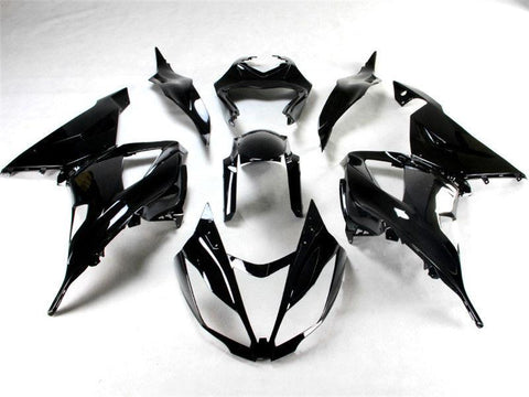 NT Aftermarket Injection ABS Plastic Fairing Fit for ZX6R 636 2013-2016 Glossy Black N001 Available in TX, IL