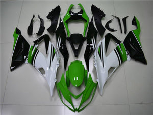 NT Aftermarket Injection ABS Plastic Fairing Fit for ZX6R 636 2013-2016 Green White Black N005 Available in TX