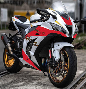 NT Aftermarket ABS Plastic Injection Fairing Kit Fit for ZX10R 2016-2019 White Red Gold N0001