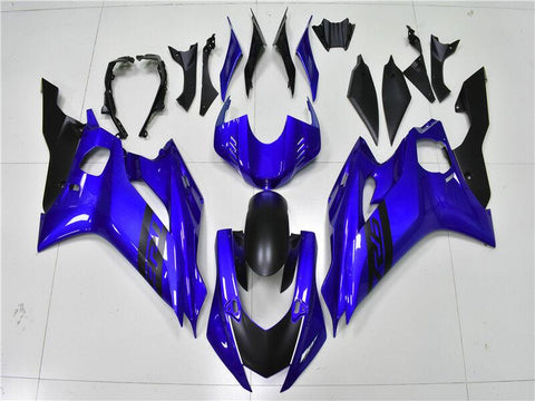 NT Aftermarket Injection ABS Plastic Fairing Fit for YZF R6 2017-2019 Blue Black N006