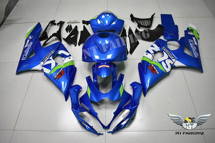 NT Aftermarket Injection ABS Plastic Fairing Kit Fit for GSXR 1000 2005-2006 Blue White N0001
