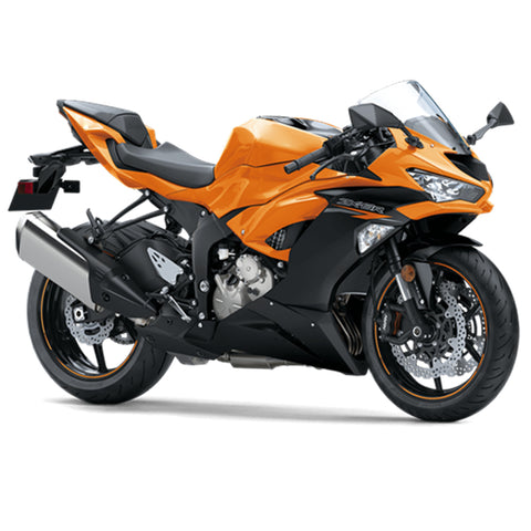 NT Aftermarket Injection ABS Plastic Fairing Fit for ZX6R 636 2019-2020 Orange Black N001