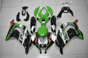 NT Aftermarket ABS Plastic Injection Fairing Kit Fit for ZX10R 2016-2019 Green Black Red PT07