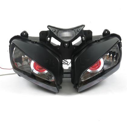 Front Motorcycle Headlight Red Angel Eye Fit Honda 2004-2007 CBR1000RR