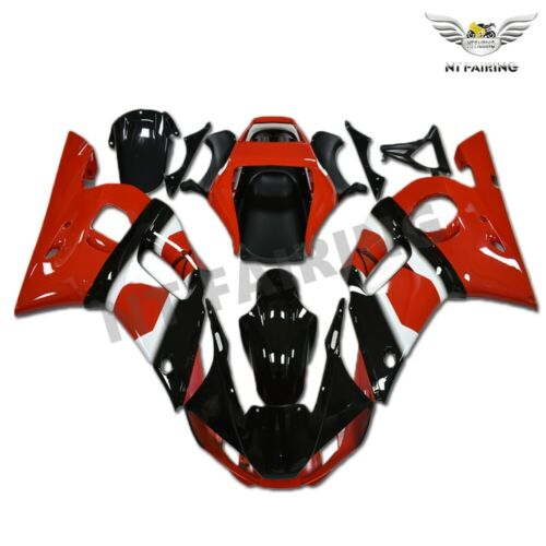 NT Aftermarket Injection ABS Plastic Fairing Fit for YZF R6 1998-2002 Red Black N009 Available in TX, KY