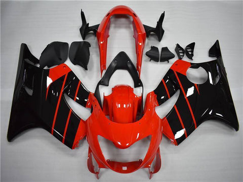 NT Aftermarket Injection ABS Plastic Fairing Fit for CBR600 F4 1999-2000 Red Black N036 Available in TX IL