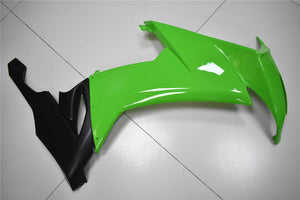 NT Aftermarket Injection ABS Plastic Fairing Fit for ZX10R 2008-2010 Black Green N004