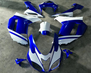 NT Aftermarket Injection ABS Plastic Fairing Fit for ZX6R 636 2007-2008 Blue White N1997 Available in IL