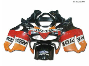 NT Aftermarket Injection ABS Plastic Fairing Fit for CBR600 F4i 2001-2003 Orange Red Black N008 Available in TX