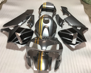 NT Aftermarket Injection ABS Plastic Fairing Fit for CBR600RR 2003-2004 Silver Gold Black N2164 Available in TX