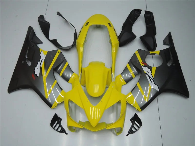 NT Aftermarket Injection ABS Plastic Fairing Fit for CBR600 F4i 2004-2007 Yellow Gray N001 Available in CA