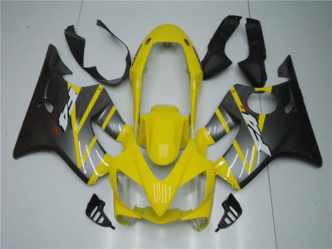 NT Aftermarket Injection ABS Plastic Fairing Fit for CBR600 F4i 2004-2007 Yellow Gray N001