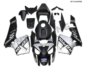 NT Injection Silver Black Fairing Fit for Honda 2005-2006 CBR600RR ABS N077 Available in IL